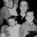 Elizabeth, Michael Todd and her two sons
