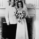 On her wedding day with Jim Dougherty