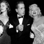 Bacall, Bogie and Marilyn Monroe at the premiere of How To Marry a Millionaire