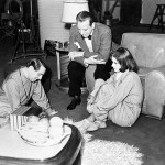 With her director and co-star on the set of Ninotchka