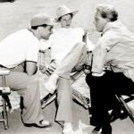 Katharine, Spencer and Elia Kazan on the set of A Sea of Grass