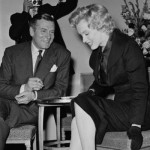 Laurence and Marilyn Monroe at a press conference