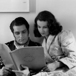 Laurence and Vivien studying scenes