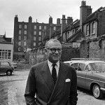 Laurence at the location for The National Theatre in 1963