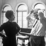Laurence directing his wife Joan in The Three Sisters in 1970