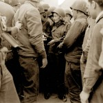 Marlene Dietrich signing autographs to the troops