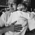 Paul holding his youngest daughter Clea