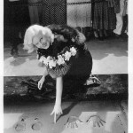 Jean making her imprint at Grauman's Chinese Theatre in 1933