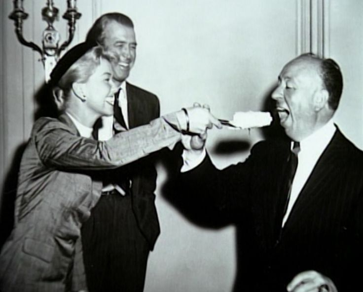 Doris Day and Alfred Hitchcock