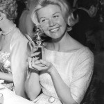 Doris Day and her Golden Globe in 1960