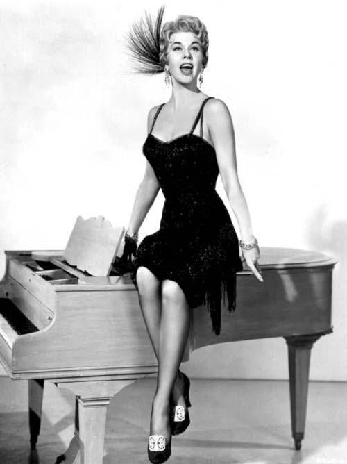 Doris Day on a piano