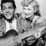 Lucy and Desi in their first film Too Many Girls