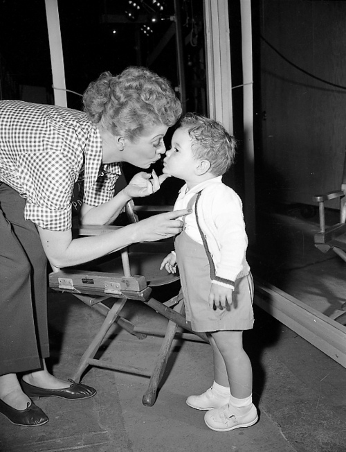 Lucy ball and her son