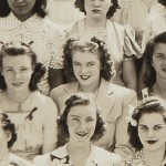 15 year old Marilyn on a class photo