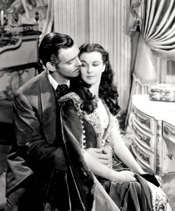 Gable and Leigh in Gone With The Wind