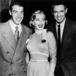 Joe Dimaggio Marilyn and Cary Grant on the set of Monkey Business 1952