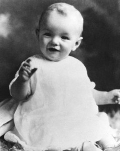 Marilyn Monroe as a baby