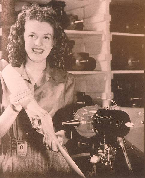 Marilyn in the Radioplane Munitions Factory