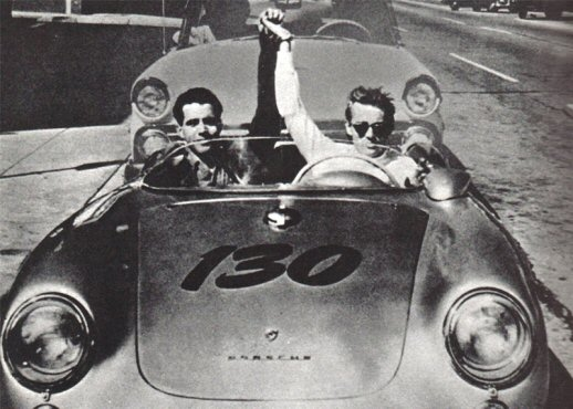 James Dean and Rolf Weuterich in The Little Bastard1