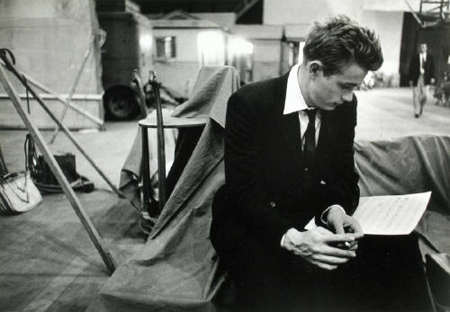 James Dean on the set of Rebel Without a Cause1