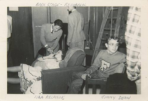 James Dean right in college1