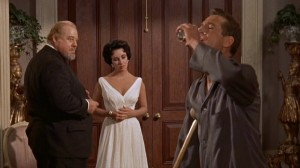 Burl Ives Elizabeth Taylor and Paul Newman in Cat on a Hot Tin Roof