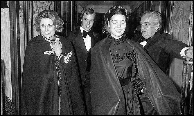 Grace Albert Caroline and Rainier in 1976
