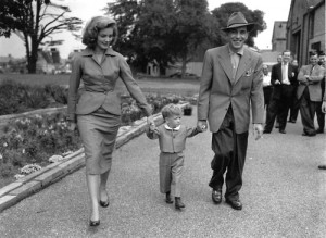 Bogie Bacall and their son Stephen
