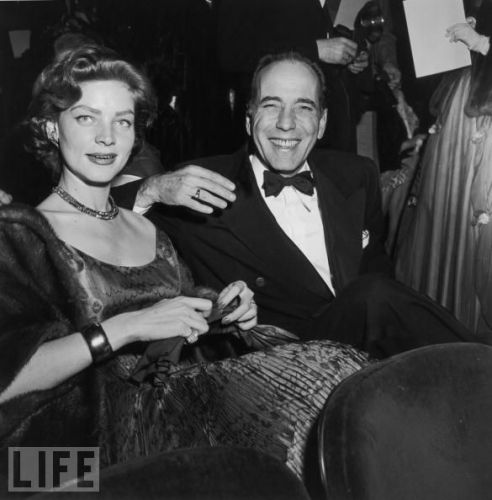 Bogie and Bacall at the Oscars in the early 50s