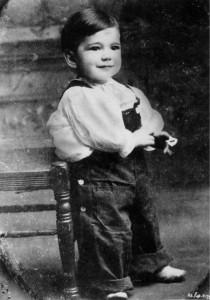 Humphrey Bogart as a child