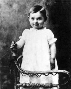 Clark Gable as a child