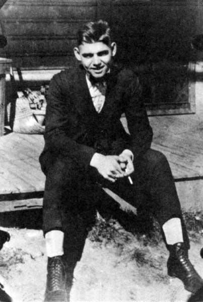Clark Gable as a teenager
