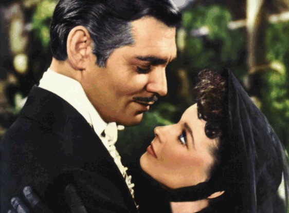 Clark and Vivien Leigh in Gone With The Wind