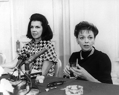 Judy at a press conference for Valley of the Dolls