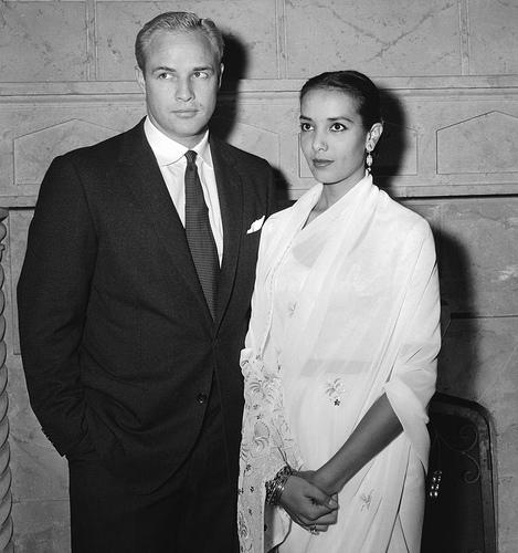 Marlon Brando and his first wife Anna Kashfi