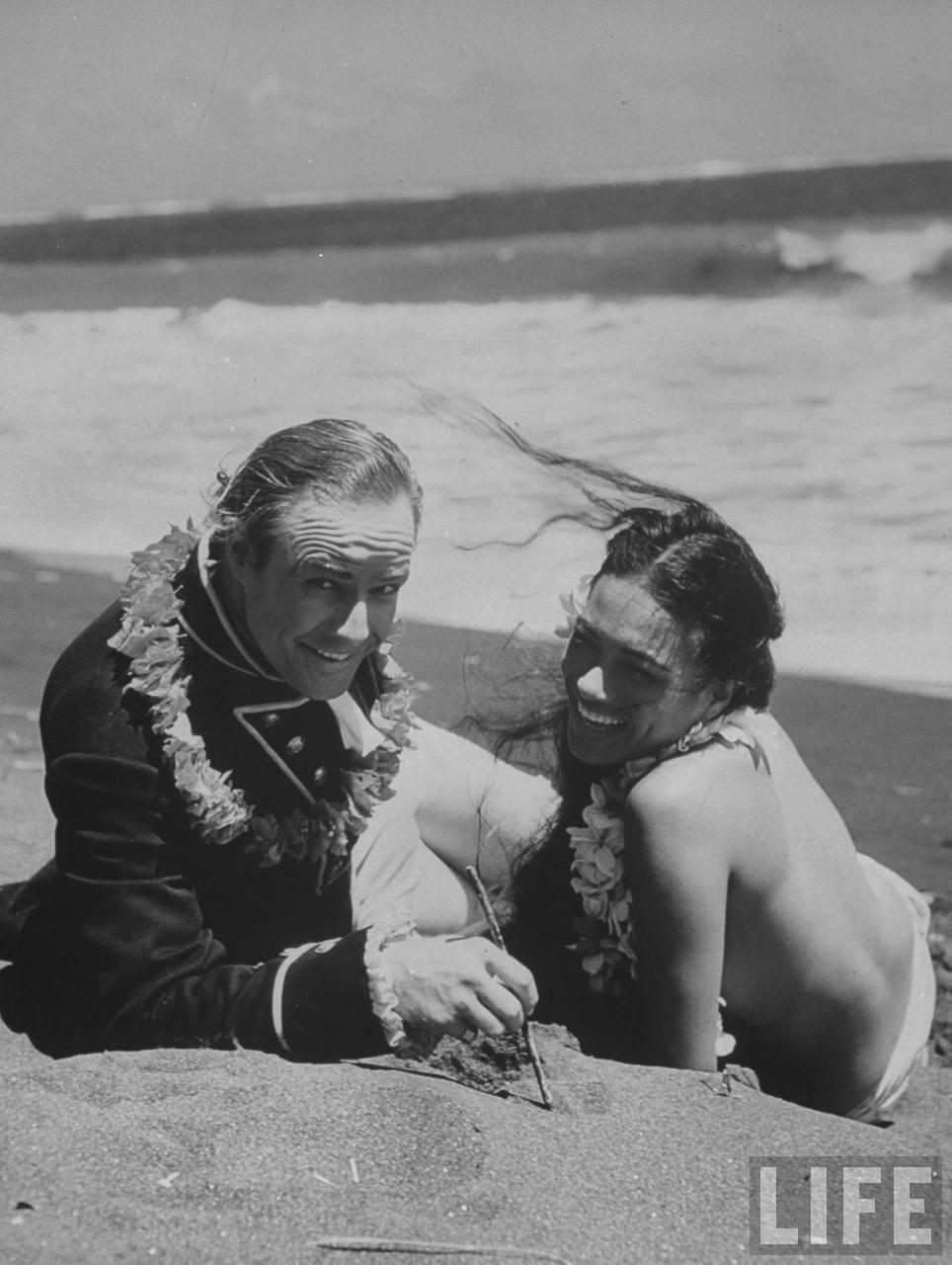 Marlon and his third wife Tarita