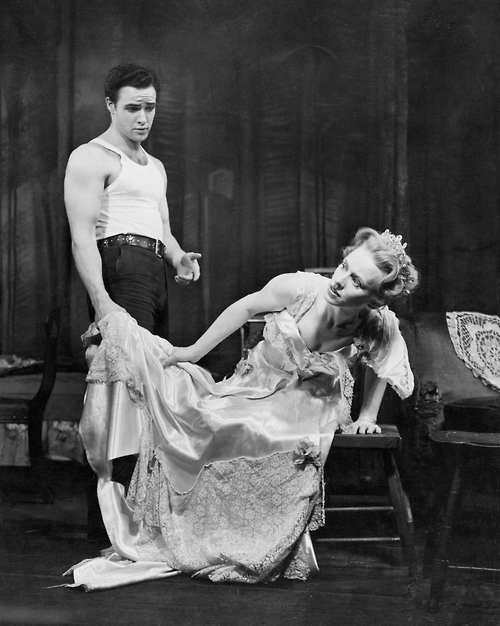 Marlon in the play A Streetcar named Desire with Jessica tandy