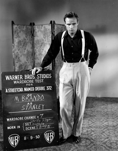 Marlons wardrobe test for the movie version of A Streetcar named Desire