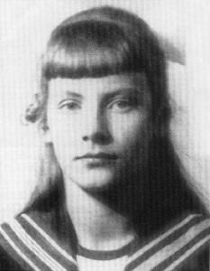 Grat Garbo as a young girl