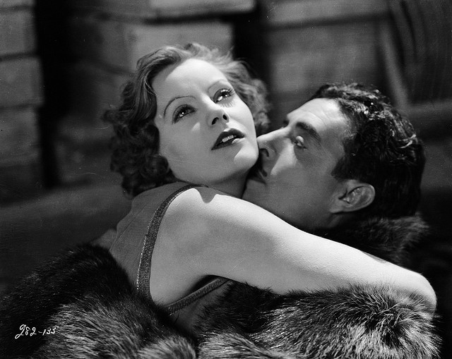 Greta and John Gilbert in The Flesh and the Devil