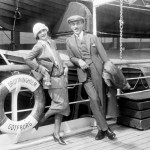 Greta and Stiller on the boat to America