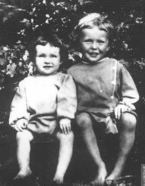 Katharine Hepburn and her brother Tom