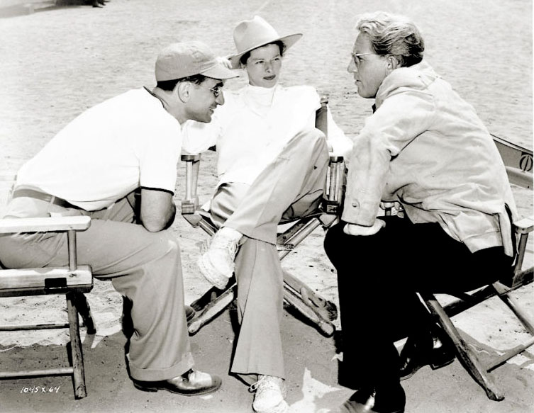 Katharine Spencer and Elia Kazan on the set of A Sea of Grass