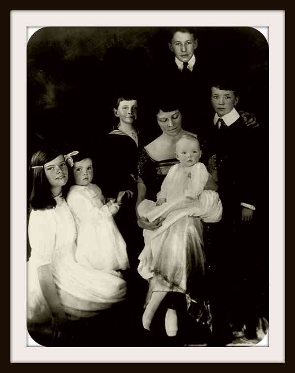 Katharine left with her family