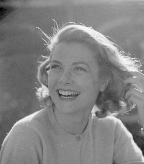 Grace Kelly laughing