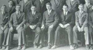 James Stewart in prep school third from left