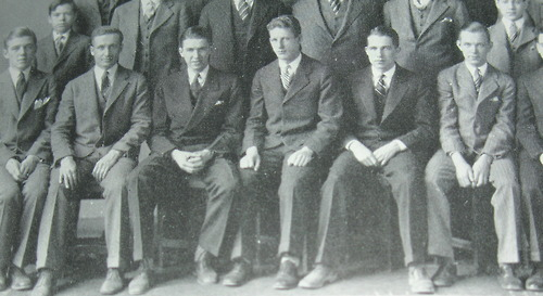 James Stewart in prep school third from left