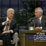 James and Johny Carson on The Tonight Show