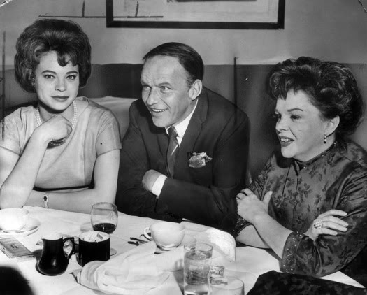 Frank Sinatra his girlfriend Juliet Prowse and Judy Garland