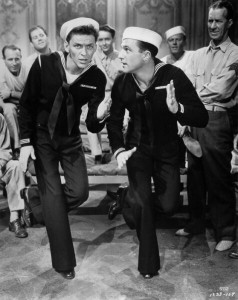 Frank and Gene Kelly in Anchors Aweigh